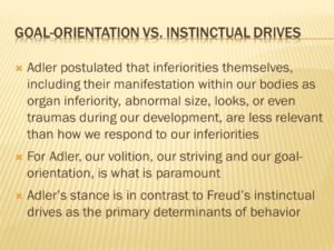 Goal-orientation vs. instinctual drives